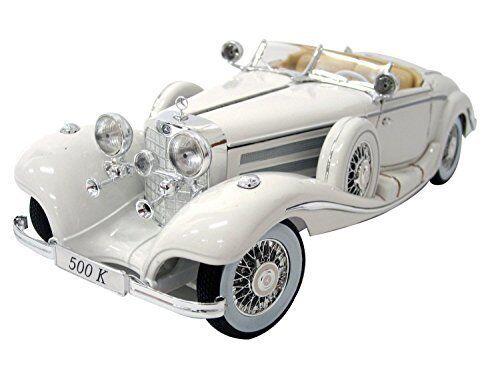 Maisto 1 18 Mercedes Benz 500 K särskildroast vit tärningskast modellllerler bil leksak