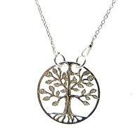 FASHIONS FOREVER® 925 STERLING SILVER TREE OF LIFE NECKLACE PENDANT, MADE IN UK