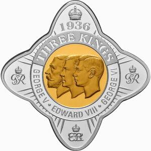 Tokelau 2021 Royal Star Year of Three Kings 1936 George Edward $1 Oz Silver Prf