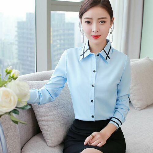Casual Ladies Floral Women Top Loose Stylish Korean Office Blouse Elegant Tops