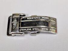 Original Breitling Stainless Steel Deployant Deployment Folding Buckle 16mm