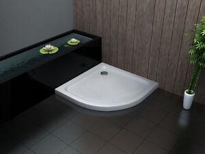 90-x-90-cm-Acryl-Duschtasse-Duschwanne-Dusche-Brausewanne-50-mm-Viertelkreis