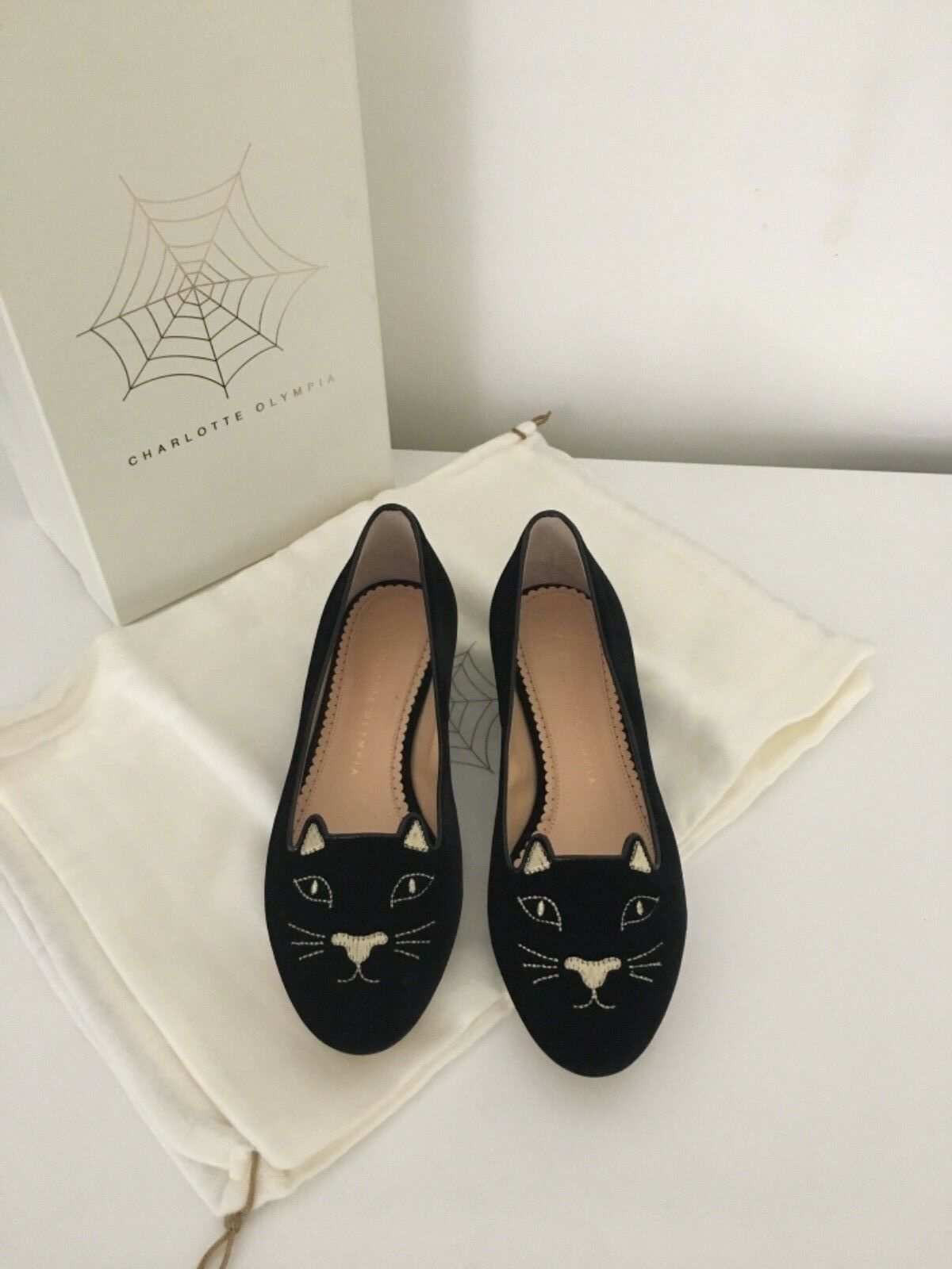 Charlotte olympia kitty flat 36 new with box and and and invoice 83bd27