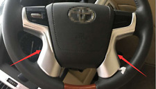 Car ABS Chrome Trim Steering wheel Trim For Toyota Land Cruiser LC200 2016+
