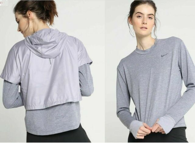 64d11c5fc5b40 Nike Women s Run Division Therma Sphere Element 2 in 1 Packable Top Long  Sleeve