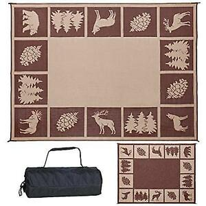 Patio Rv Camping Mat 9 X 12 Reversible Mats Outdoor Picnic Area Rug