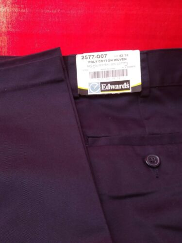"""NEW w//Tags/_EDWARDS Casual Work Poly Cotton Woven/_Sz .42/"""" x 32/"""""""