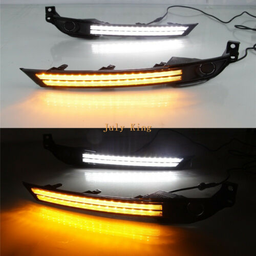 Daytime Running Lights for Mazda CX-5 2017 LED DRL Yellow Turn Signals Low