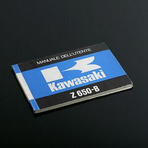 KAWASAKI-Z-650-B-MANUEL-D-UTILISATEUR-EN-ITALIEN-NEUF-D-EPOQUE