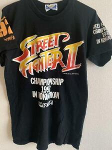 Vintage-Street-Fighter-2-T-Shirt-Championship-1992-in-Kokugikan-Model-CAPCOM
