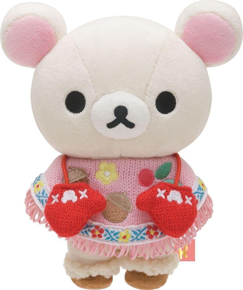 Rilakkuma Korilakkuma Plush Doll För att leverera handskar Stuff leksak Kawaii japan Gift