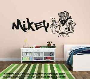 Personalizado Graffiti spray puede Man & nombre arte de pared calcomanía Estilo todos los nombres