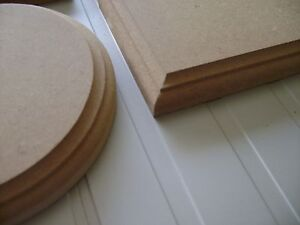 Squares Rectangles 18mm MDF blank signs plinths plain stand PLAQUES Circles