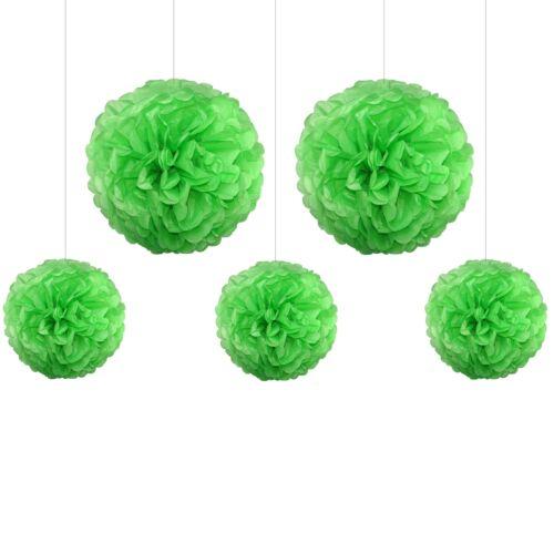 grün hochzeitsdeko dekokugeln pompom 5x Pompons Mix 3x 25cm 2x 35cm