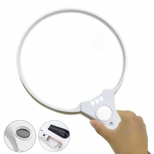 c4b0f347054 Extra Large Handheld Reading Magnifier 25X Magnifying Glass With 3 LED  Lights