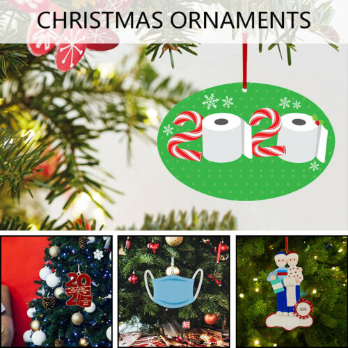 ADD Name 2020 Christmas Tree Hanging Family Ornament Personalized For Xmas Party