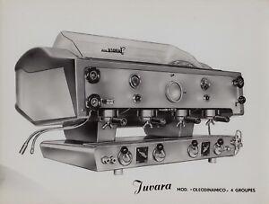 Machine-a-cafe-Juvara-modele-034-Oleodinamico-4-groupes-034-tirage-d-039-epoque