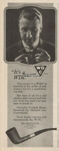 1920-WDC-Wm-DeMuth-amp-Co-New-York-Genuine-French-Briar-Pipe-vintage-print-ad