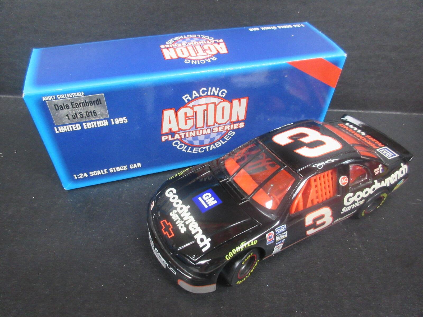 1995 acción  3 Dale Earnhardt Goodwrench coche 1 24th escala --