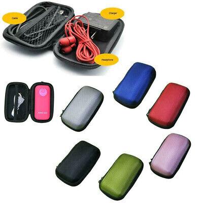 Portable Mini Round Hard Storage EVA Case Cover Bag for Earphone Headpset SD TF