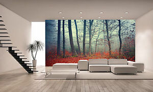 Colorful Autumn Forest Wall Mural Photo Wallpaper GIANT DECOR Paper