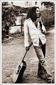 Bob-Marley-poster-rare-OOP-standing-with-guitar