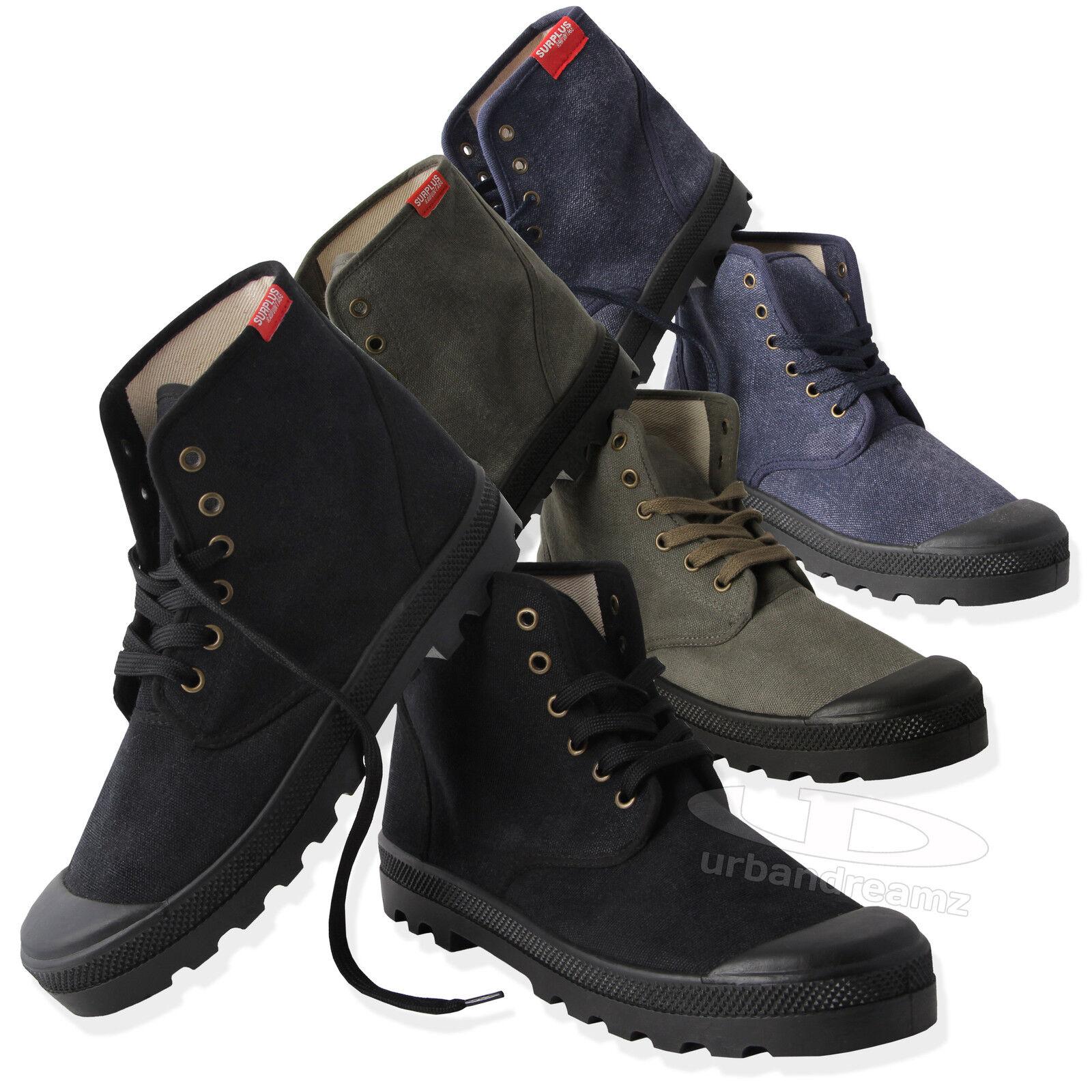 SURPLUS™ Raw Vintage Desert Boots Canvas Boots Shoes Summer Canvas shoes
