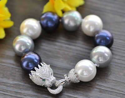 "8/"" Keshi SOUTH SEA white Pearl Bracelet"