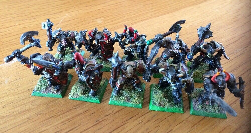 Warhammer 40k AOS Chaos Warriors Miniatures Lot Of 10 PRO Painted