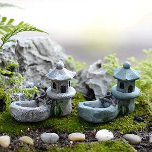Teich-Turm-Handwerk-Fairy-Garten-Dekor-Figuren-Spielzeug-Micro-Landschaft-BC