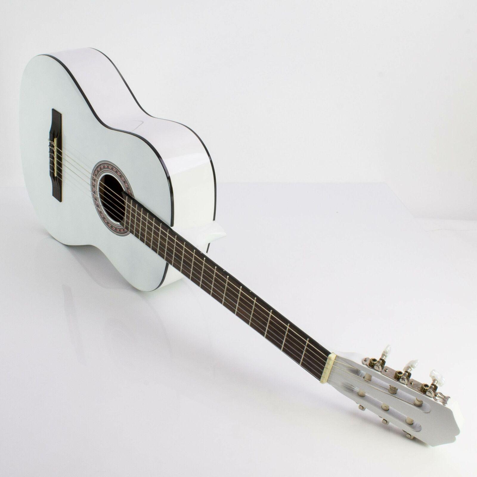 Anfänger Konzertgitarre FIDEL, 4 4, weiß - Einsteigergitarre