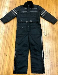 Vintage-SEARS-Work-Leisure-Insulated-1-Piece-Snowsuit-Winter-Snow-Coveralls-38-S
