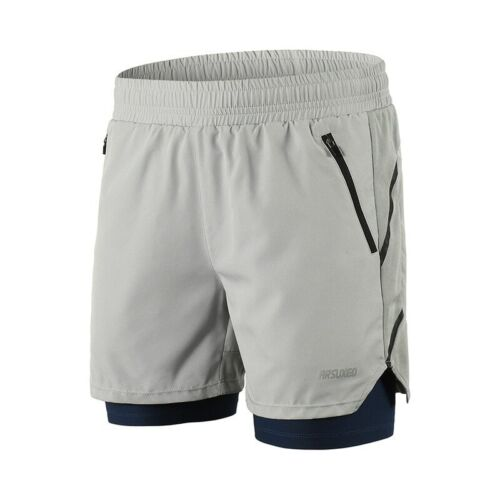 Running Shorts Men 2 in 1 Training Exercise Jogging Sports Shorts Quick Dry