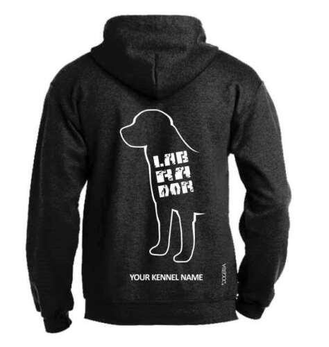 Labrador Full Zipped Dog Breed Hoodie Exclusive Dogeria Design.