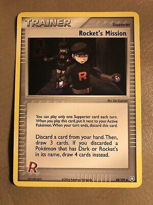 1x  R Energy 95//109 EX Team Rocket Returns Reverse Holo Pokemon Card