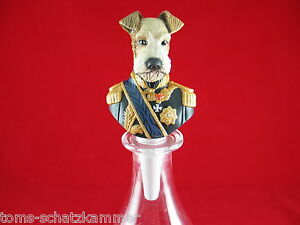 Goebel-ARISTO-Dogs-porcelaine-flaschenverschlus-l-039-officier-tu-Lakeland-poncelet
