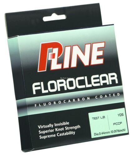 2 NEW P-Line Floroclear Fluorocarbon Coated Mono 300Yd 10Lb Mist Green FCCFMGF-1