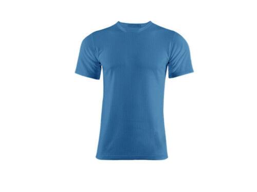 Hommes 0.45 tog nominale chaud brossé intérieur Hiver Sous-vêtement Thermique T-Shirt-Bleu