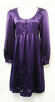 Edwardian Vtg 1920's / 30's Gatsby Downton Abbey Purple Silk Cocktail Dress