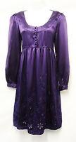 Edwardian Vtg 1920's / 30's Gatsby Downton Abbey Purple Silk Cocktail Dress