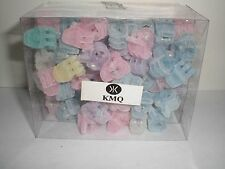 Mini Cute Felt Pastel Plastic Hair Snap Claw Styling Clip Lot of 144 Clips NEW