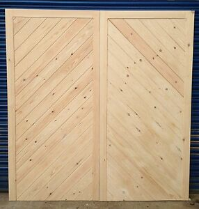 Wooden Chevron Side Hung Timber Pair Of Heavy Duty Flb