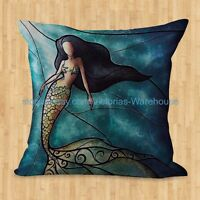 Us Seller- Mermaid Cushion Cover Covers For Pillows On Sofa