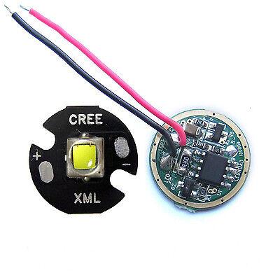 CREE 10W XML L2 White Flashlight LED light With 16mm Base +5-Mode 3.7V driver