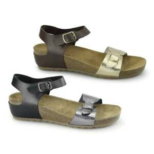ac7aca3ab8e9 Image is loading Hush-Puppies-TEASE-SOOTHE-Ladies-Womens-Dual-Buckle-