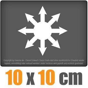 Caos-magia-10-x-10-cm-JDM-decal-sticker-pegatinas-blanco-arandelas-pegatinas