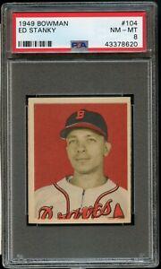 1949-Bowman-BB-Card-104-Ed-Stanky-Boston-Braves-ROOKIE-CARD-PSA-NM-MT-8