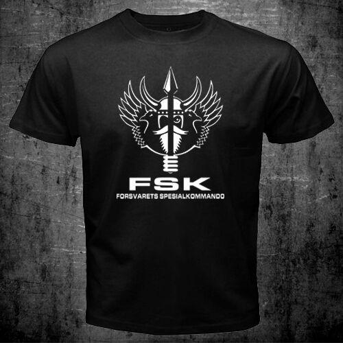 Norvégien Norvège FSK forces spéciales Forsvarets Spesialkommando Marine Armée T-Shirt