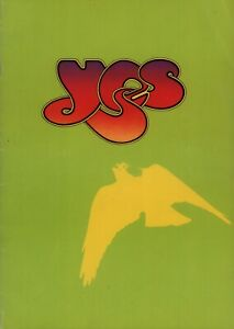 YES / JON ANDERSON 1975 RELAYER UK SPRING TOUR CONCERT PROGRAM BOOK / VG 2 EX