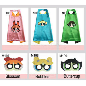 Image is loading Powerpuff-Girls-Costumes-Superhero-cape-with-mask-for-  sc 1 st  eBay.ph : powerpuff girls costumes kids  - Germanpascual.Com